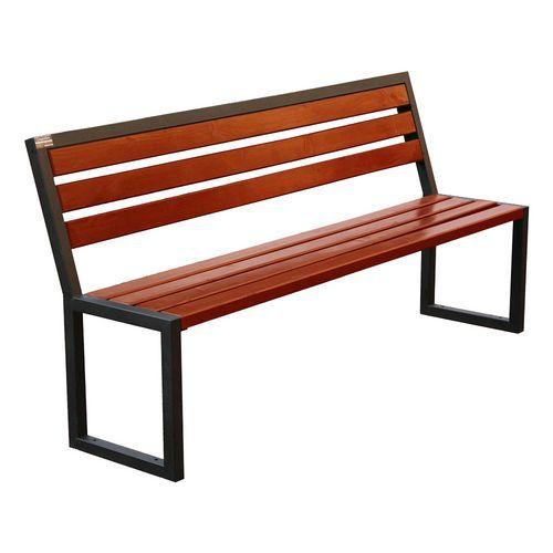 Panchina in legno per esterni con schienale