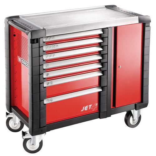 Banco da lavoro mobile JET+ - 7 cassetti