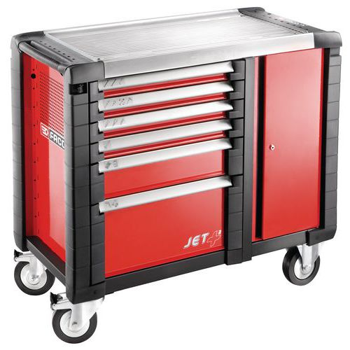 Banco da lavoro mobile JET+ - 6 cassetti