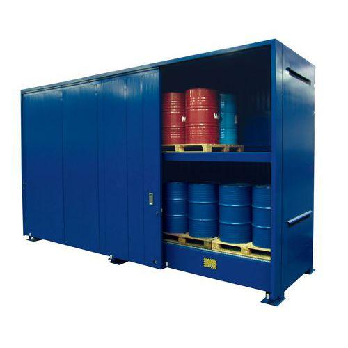 Container di stoccaggio per esterni a 2 piani per fusti for Piani di progettazione di stoccaggio garage