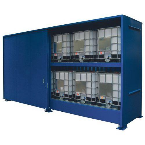 Container di stoccaggio a 2 piani per esterni per ibc 2 for Piani di progettazione di stoccaggio garage