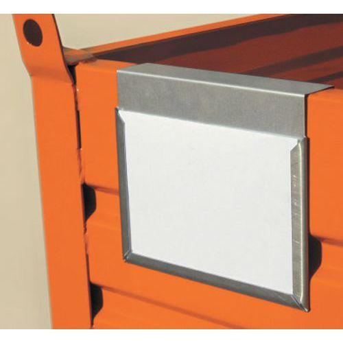 Pallet In Metallo.Porta Etichetta Per Cassa Pallet In Metallo