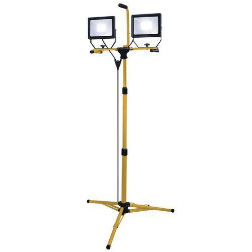 Proiettore da lavoro su treppiedi - Led - 2 x 50W - 8000 lm - Stak