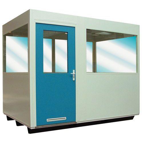 Doppio vetro + isolamento soffitto per cabine a doppia parete in lamiera d'acciaio o in lamiera d'acciaio/mela
