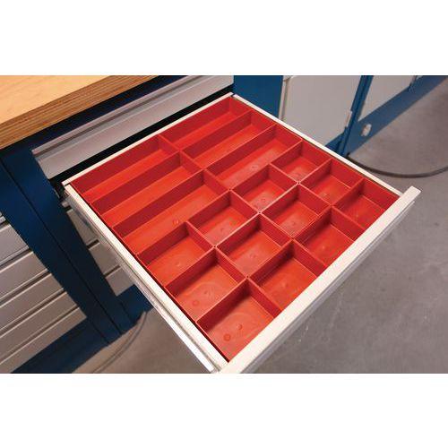 Cassettiere E Contenitori Di Plastica.Kit Di Suddivisione Per Cassetti Plastica 24 Contenitori