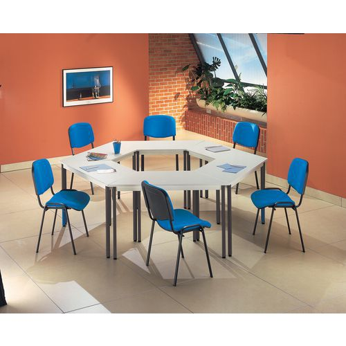 Set da riunione di 6 tavoli e 6 sedie