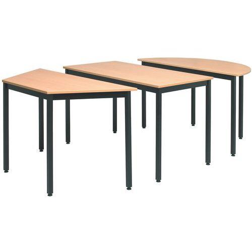 Tavolo da riunione modulare universale - Trapezoidale - Manutan Italia