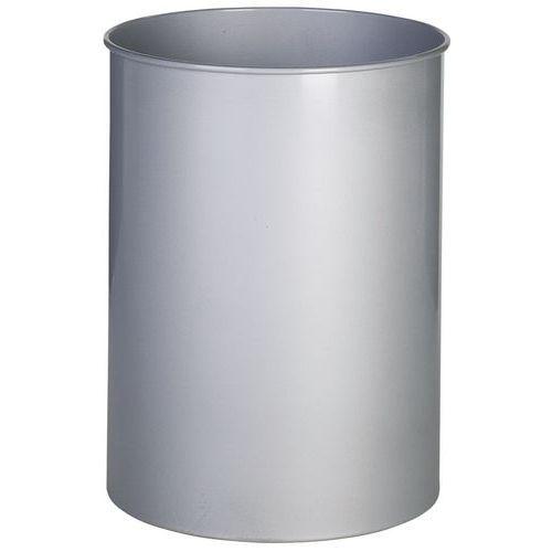 Pattumiera rotonda in metallo - 15 L