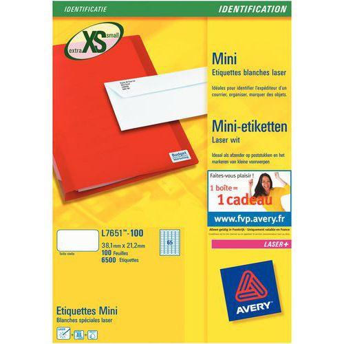 Mini-etichetta Avery - Stampa laser