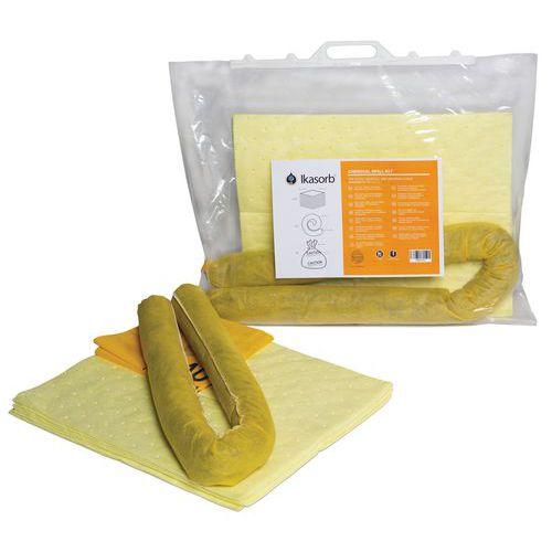 Kit di assorbenti per prodotti chimici in sacco 13,1 L - Ikasorb