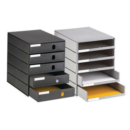 Cassettiera ecologico - 5 cassetti