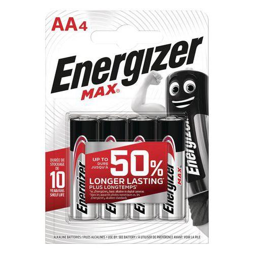 Pila Max AA - Lotto da 4 - Energizer