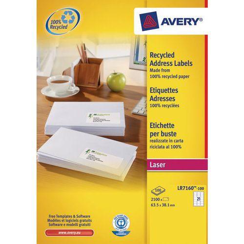 Etichetta riciclata Avery - Stampa laser