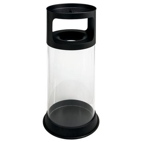 Posacenere/cestino ignifugo con posacenere trasparente 80 L