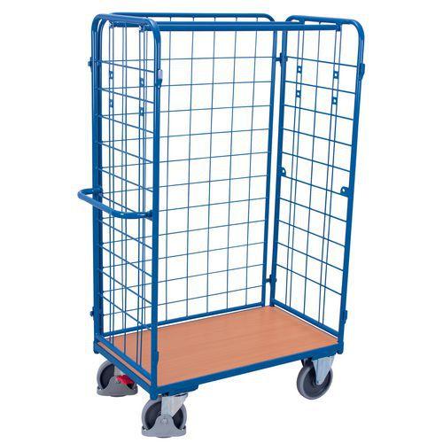 Roll-container con base in legno - 3 lati - Portata da 400 kg a 500 kg