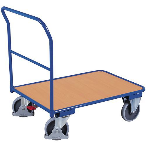Carrello in acciaio tubolare - 1 sponda fissa - Portata 400 kg