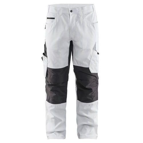 Pantalone da pittore con tasca sul ginocchio Unite Bianco / Grigio scuro