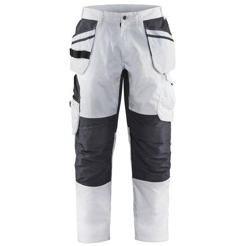 Pantalone da pittore con tasche per attrezzi sospesi Unite Bianco / Grigio scuro