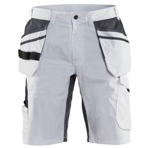 Pantaloncini imbianchino con stretch Bianco / Grigio scuro