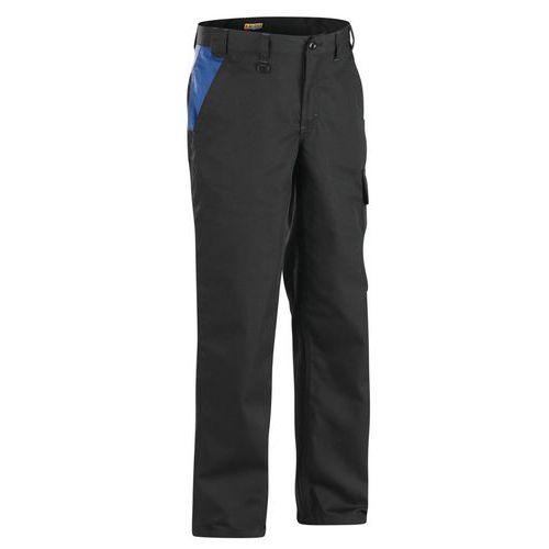 Pantaloni Industria  Black/Cornflower blue