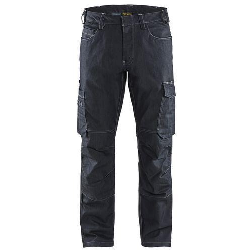 Pantaloni di servizio con Blu marino elasticizzato