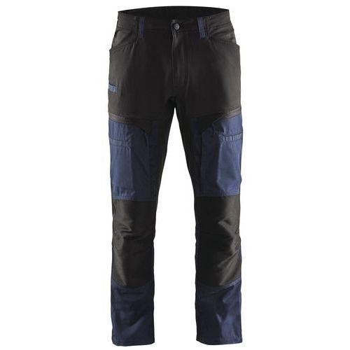 Pantaloni di servizio di trasporto con pannelli elasticizzati Blu scuro / nero