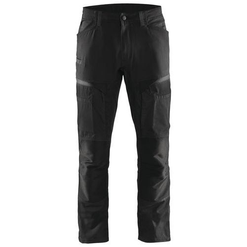 Pantaloni di servizio di trasporto con pannelli elasticizzati Nero / Grigio scuro