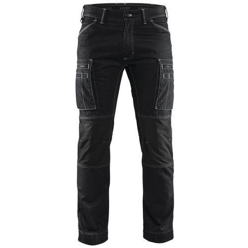 Pantaloni Service con inserti stretch Nero