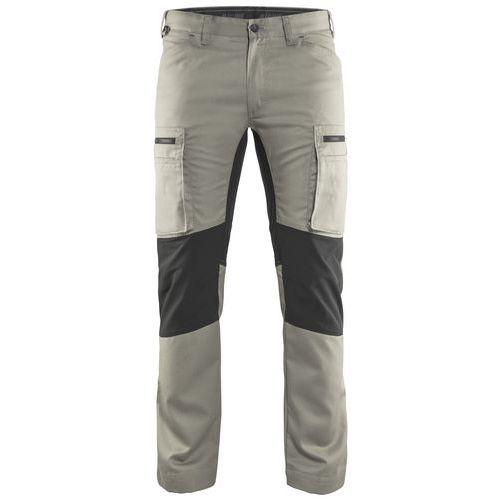 Pantaloni Service con inserti stretch Stone/nero