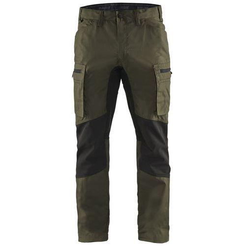 Pantaloni Service con inserti stretch  Verde oliva scuro/nero