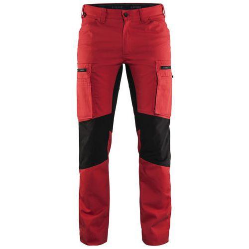 Pantaloni Service con inserti stretch Rosso/Nero
