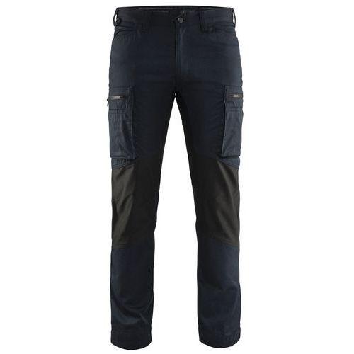 Pantaloni Service con inserti stretch Blu marino scuro/nero