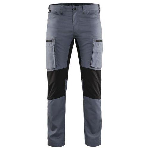 Pantaloni Service con inserti stretch Grigio/Nero