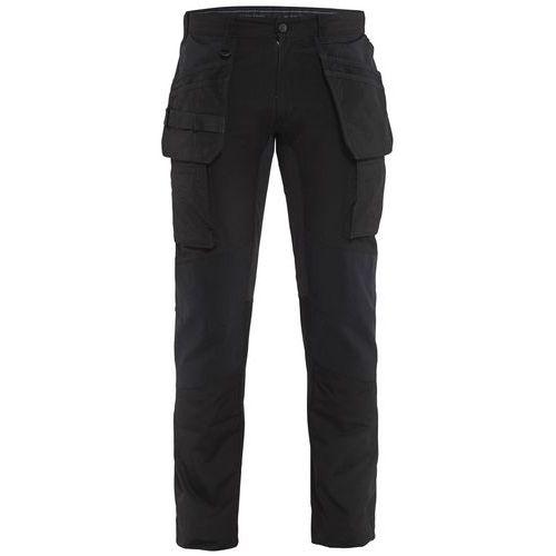 Pantaloni di servizio con pannelli elasticizzati Nero