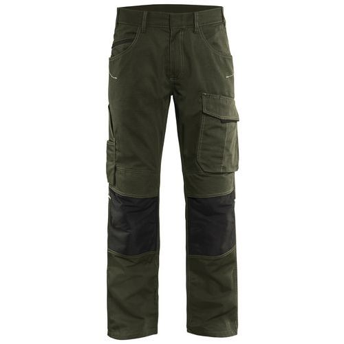 Trouser with knee pocket Unite Verde oliva scuro/nero
