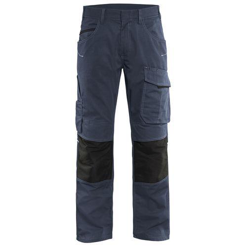 Pantaloni service con stretch Unite Blu scuro / nero