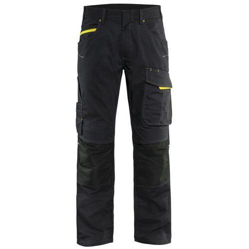 Trouser with knee pocket Unite Nero/Giallo