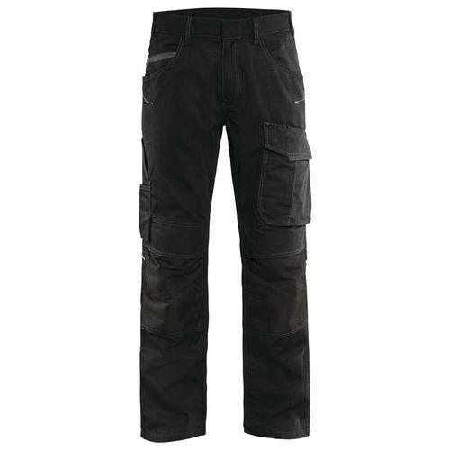 Pantaloni service con stretch Unite Nero / Grigio scuro