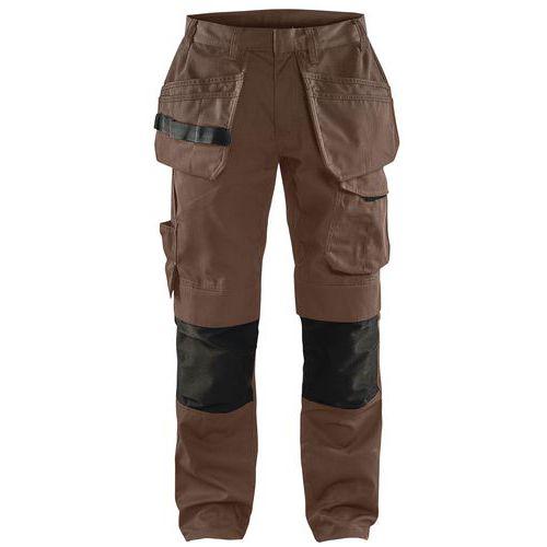 Pantaloni da lavoro verde oliva scuro/nero