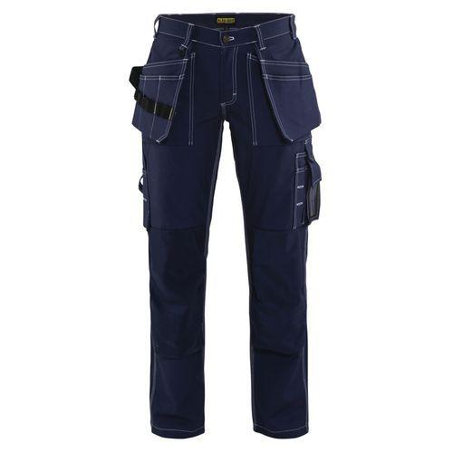 Pantaloni con Tasche Flottanti Donna Blu marino
