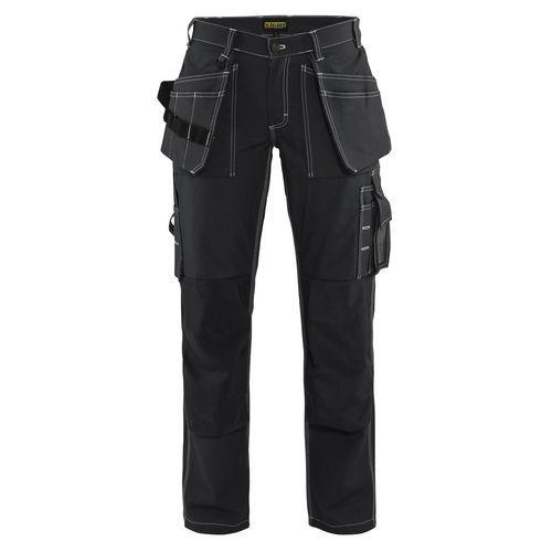 Pantaloni con Tasche Flottanti Donna Nero