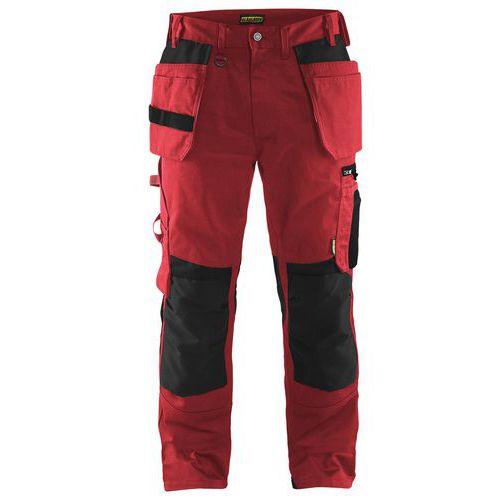 Craftsman trousers Rosso/Nero