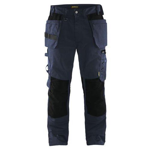 Pantaloni artigiano Blu scuro / nero
