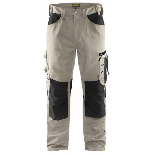 Pantaloni senza tasche flottanti Pietra / Nero