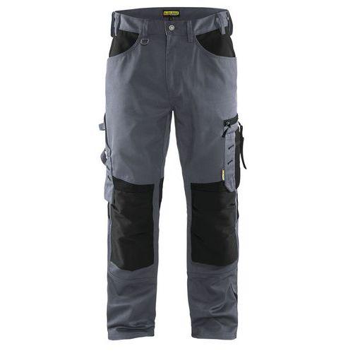 Pantaloni senza tasche flottanti Grigio/Nero