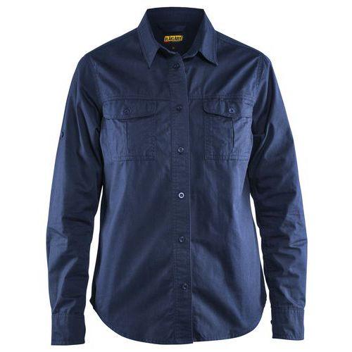 Ladies twill shirt Blu marino