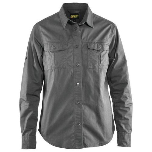 Ladies twill shirt Grigio