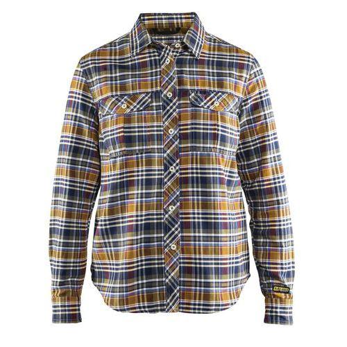Camicia in flanella donna navy / Arancio