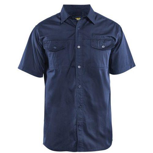 Twill shirt Blu marino