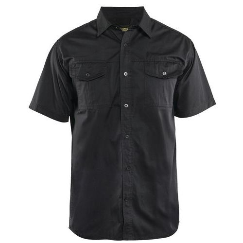Twill shirt Nero